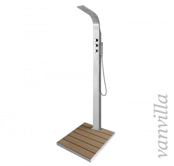 Gartendusche Modell Tipo für Kalt- und Warmwasser mit Duschtasse 2.0