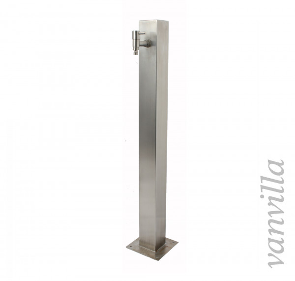 Wasserzapfstelle quadratisch 90cm hoch inkl. 1x Wasserhahn